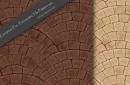 ヨーロピアンファン・テラコッタタイル。継ぎ目なしのパターン素材2色(PHOTO)