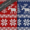 クリスマス用テクスチャ素材・3色ノルディック柄のニット・パターンセット(CG)