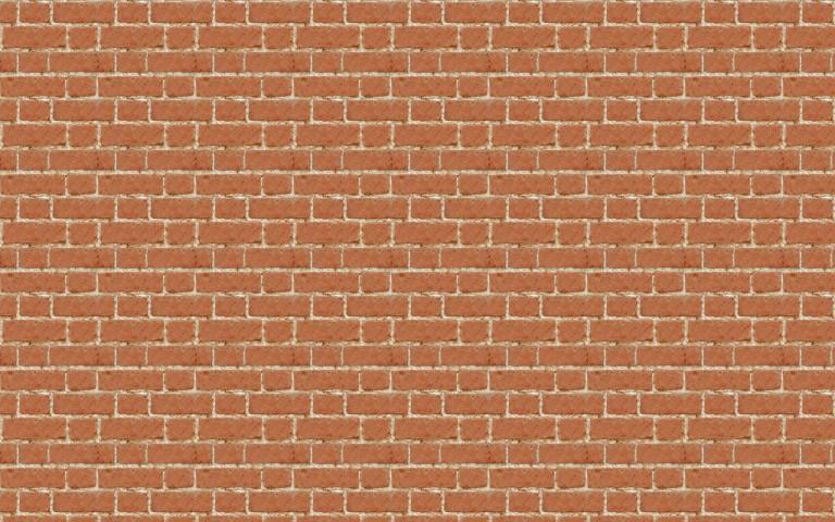 薄茶レンガブロック壁のパターン素材01(PHOTO)