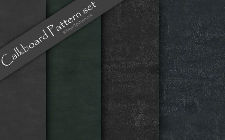 Calkboard(黒板)テクスチャのシームレスパターン4種類(PHOTO)