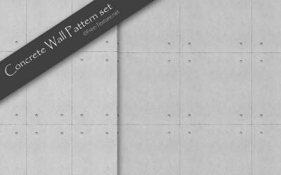 2種類のコンクリート打放しシームレスパターン素材(PHOTO)
