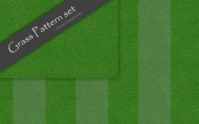2種類の芝生テクスチャ素材・シームレスパターン(CG)