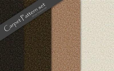 カーペットのテクスチャ素材・シームレスパターン4色set(PHOTO)