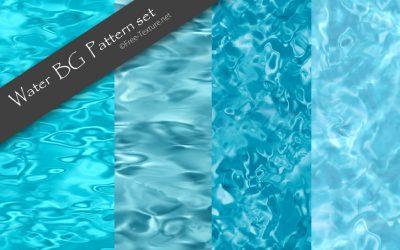 4つの表情がきれい。プールやビーチなど継ぎ目なしの水面テクスチャ素材