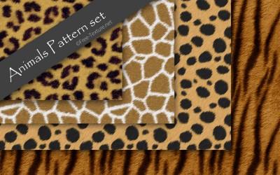 アニマル柄(豹・キリン・チーター・虎)のパターンセット