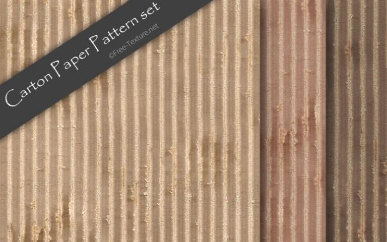 縞模様が特徴。段ボール紙のシームレスパターン3色x2サイズ(PHOTO)