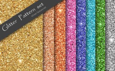キラキラ模様が綺麗なグリッターパターン8色入りテクスチャ素材セット