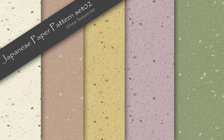 手漉き和紙のパターンテクスチャ素材5色(PHOTO)
