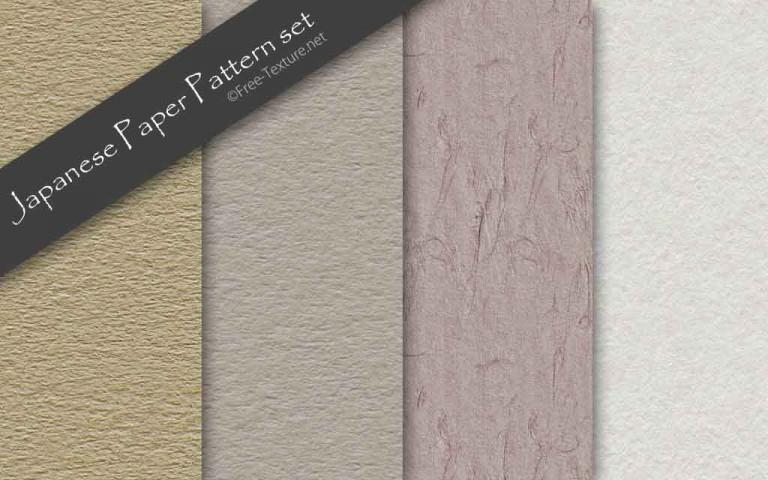 古風な和紙のパターンテクスチャ素材4種類(PHOTO)