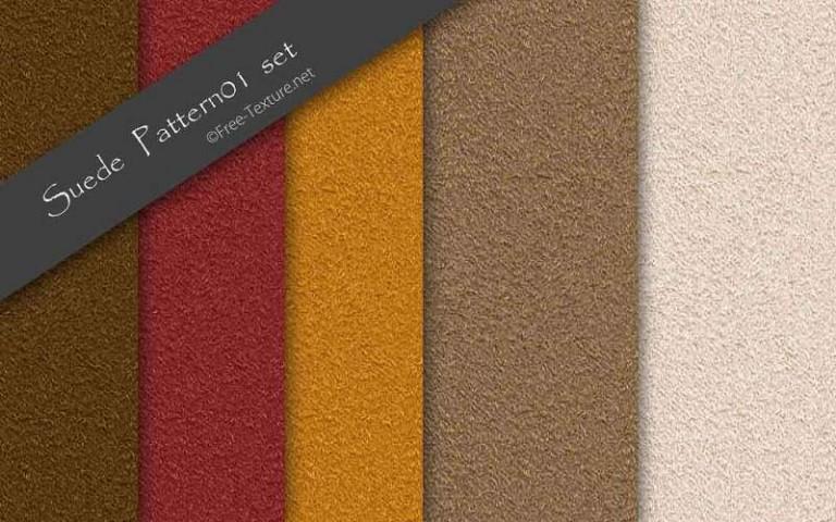 5色のスエードテクスチャ・シームレスパターン素材(PHOTO)