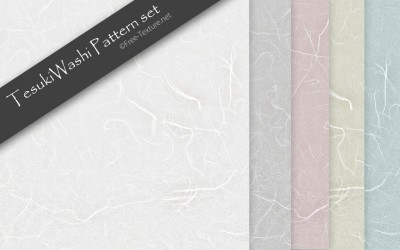 手漉き風で質感のいい和紙テクスチャ素材5色セット(PHOTO)