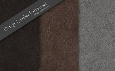 3色・ビンテージレザーの無料テクスチャ素材セット(シームレスパターン)