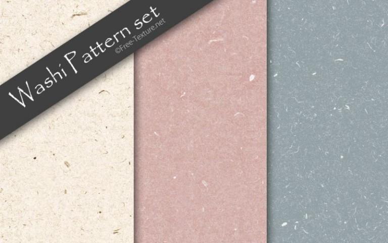 繊細な繊維が特徴です。和紙の無料シームレスパターン3色パック(PHOTO)